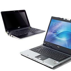 Een Netbook en een Noteboek naast elkaar