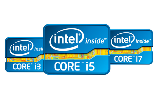Intel Core i3 i5 i7 logo's