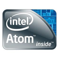 Logo van de energiezuinige Intel Atom processor