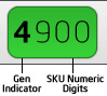 Intel Generation & SKU Numeric Digits