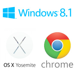 Laptop OS Windows OSX Chrome