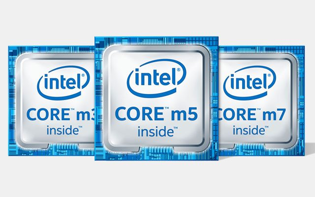 Intel Core m3 m5 m7 logo's
