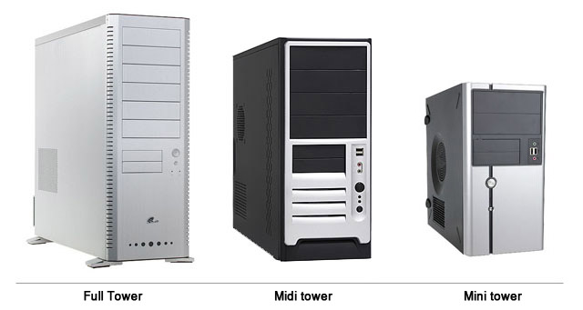 Tower desktop: Full, Midi en Mini