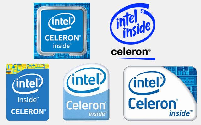 Celeron logo's