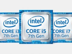 Logo's Intel Core i3 i5 i7 7de Generatie Kaby Lake processoren