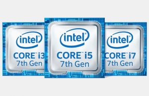 Logo's Intel Core i3 i5 i7 7de Generatie Kaby Lake processoren