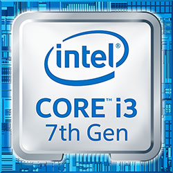 Logo Intel Core i3 7de generatie Kaby Lake