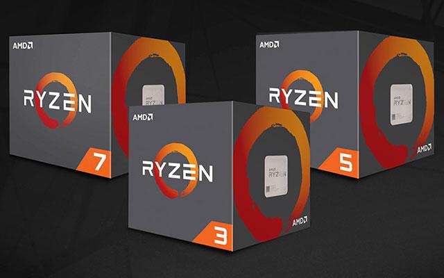 AMD Ryzen 3, 5 & 7