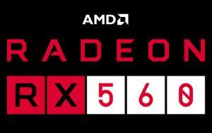 AMD Radeon RX 560 grafische kaart