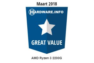 Great Value Award AMD Ryzen 3 2200G