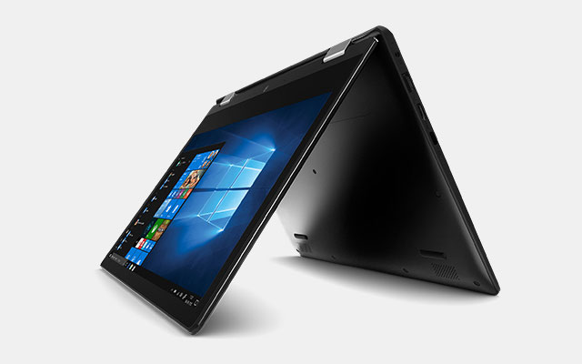 Hybride 2-in-1 laptop in tent modus
